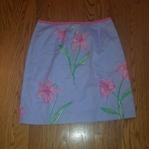 Lilly Pulitzer flower skirt size 6